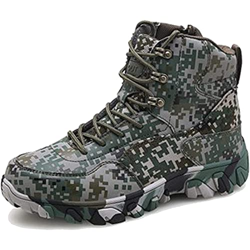 Tactical Boots Men Waterproof Military Army Patrol Boot Outdoor Camping Hiking Desert Combat Boot High-Top Lace-up Lightweight Breathable Safety Work Shoes