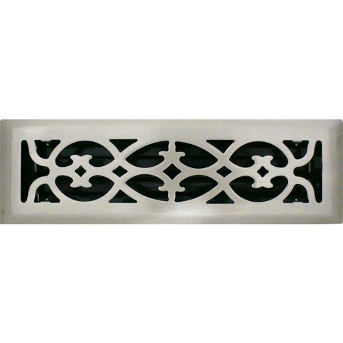 2' X 10' Victorian Brushed Nickel Floor Register / Vent Cover