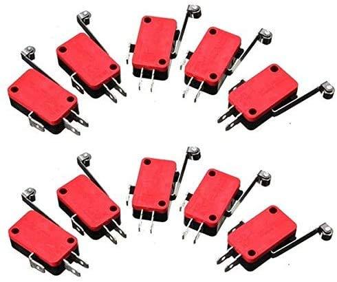 RIMEI Rodillo Palanca de Brazo Micro Interruptor AC 250V HV-156-1C25 Piezas del módulo de electrónica