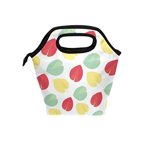 Fortune Cookie Pattern Cooler Bag Lunch Bag Package Insulated Reusable Large Capacity Lunch Organizer Holder Container Tote Bag for Men Women Kids Picnic Work Hiking Beach
