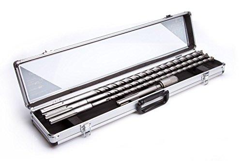 SDS-MAX Betonbohrer Set Adapter auf SDS+ Hammerbohrer Bohrersatz 600mm(W-BET3-A)