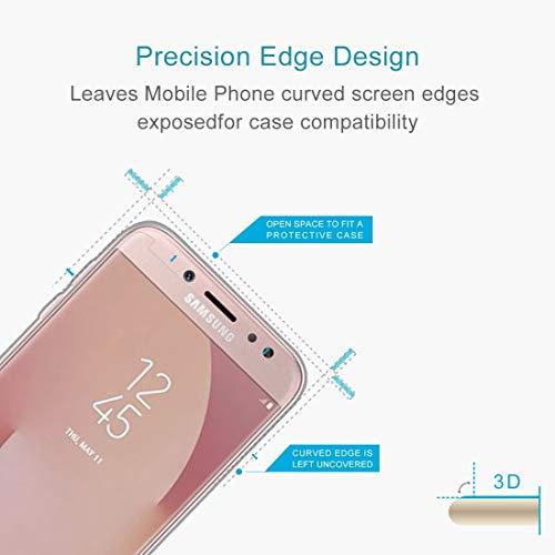 A + Xu Jie 10 piezas para Galaxy J7 (2017) (versión de EE. UU.) 0.3mm 9H dureza superficial 2.5D a prueba de explosiones pantalla no completa película de pantalla de vidrio templado