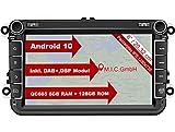 M.I.C. AV8V7 Android 10 Autoradio mit navi Qualcomm Snapdragon 665 6G+128G Ersatz für VW golf t5 touran passat rns rcd SKODA SEAT: SIM DAB plus Bluetooth 5.0 WIFI 2din 8
