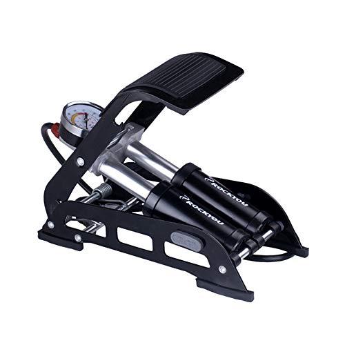 Inflator Doppelzylinder Fuß Luftpumpe Präzisions Manometer Hohe Pedal Inflator Tragbare Fahrrad/Roller/Motorrad