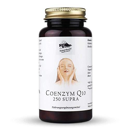 KRÄUTERHANDEL SANKT ANTON® - Coenzym Q10 250 Supra Kapseln - Hochdosiert - Vitamin B3 - Selen - Biotin - Deutsche Premium Qualität (150 Kapseln)