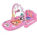Tixiyu Alfombrilla de gimnasio con juguetes para colgar con música y luces para bebés y niños pequeños, centro de actividades de alfombra para recién nacido