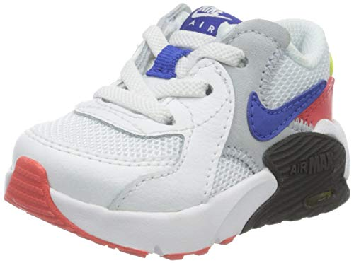 Nike Unisex-Kinder Air Max Excee Td Sneaker, Bianco/Hyper Blue/Bright Cactus/Track Red, 32 EU