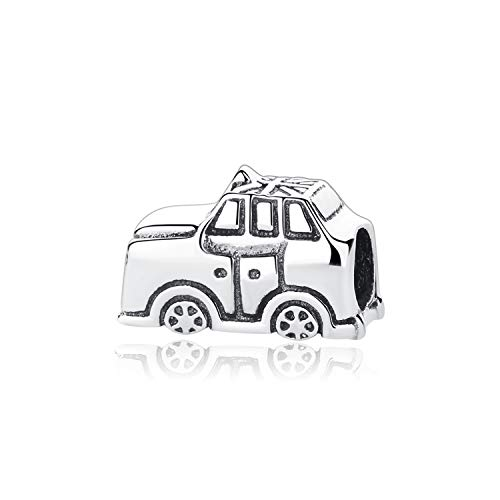 CNSP Original 925 Sterling Silver Charm Bead Travel Taxi Motorcycle Ferris Wheel Charms Fit Bracelets Women DIY Jewelry Taxi
