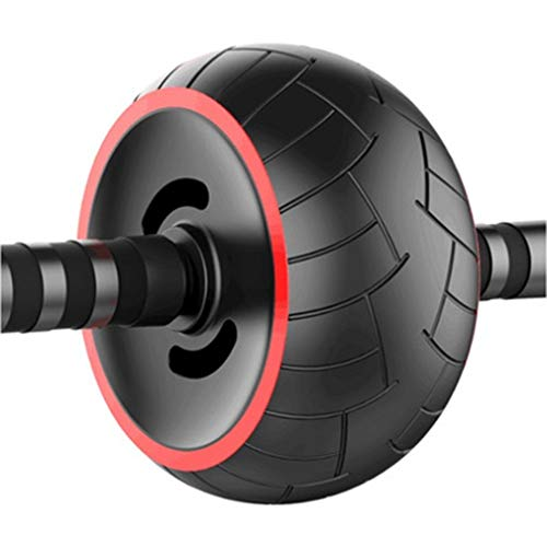 SADDPA Ab Bauch Übungs-Rolle, Ab Bauch-Übung Roller mit extra dicken Knie-Auflage-Matte Body Fitness 0ML Krafttraining Maschine Ab Wheel Gym-Tool (Color : TY146200)
