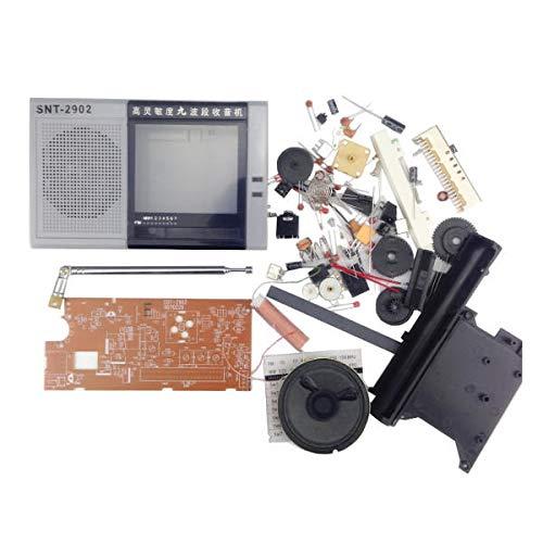 LYYCEU DIY EDT-2902 Multiband Tuner Kit FM MW SW1-7 Amplitud Modulación de 9 Banda Kit de Entrenamiento inalámbrico Módulo electrónico