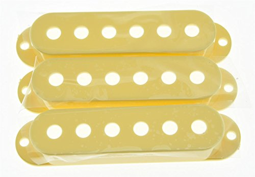 kaish Crema ST Strat Style Guitarra Pickup Covers 3Single Coil para Fender Stratocaster