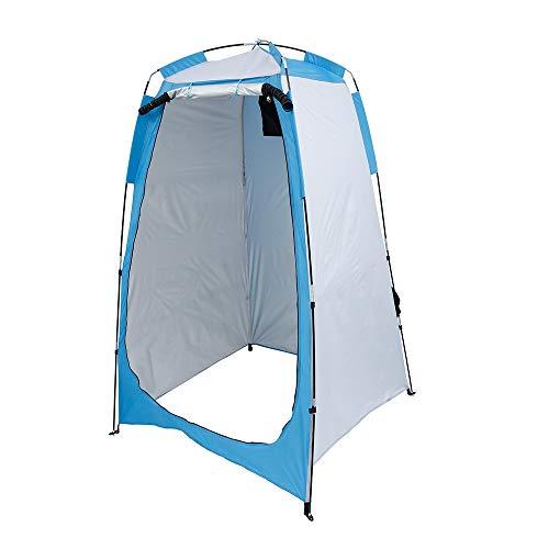 N / A Pop Up Privacy Duschzelt, Abnehmbare Umkleidekabine Privatzelt Wasserdichtes Camping WC Zelt,Tragbares Sichtschutzzelt für Wanderungen im Freien Regenschutz Camping und Strand (Blau, 1pcs)