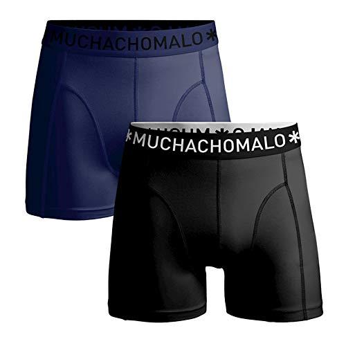 Muchachomalo Men 2-Pack Shorts Microfiber Black/Navy