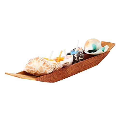 idalinya Duftkerze, Boot mit Muschel-Duftkerzen Set zur Entspannung bei der Stressabbau-Aromatherapie