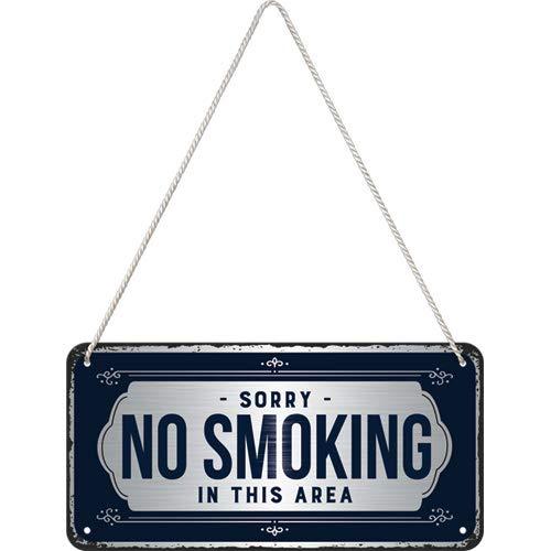 Nostalgic-Art Sorry, No Smoking Hängeschild, Metall, Bunt, 10x20 cm