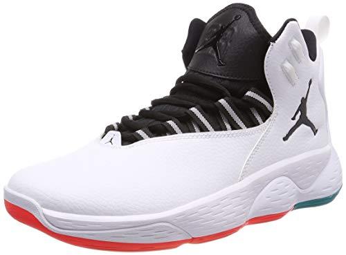Nike Jordan Super.Fly MVP, Zapatos de Baloncesto Hombre, Multicolor (White/Black/Turbo Green/Infrared 23 103), 43 EU