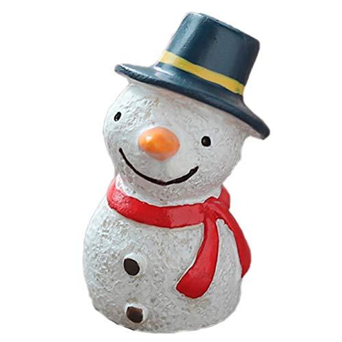 Pecera Decoradas Muñeco De Nieve Navidad