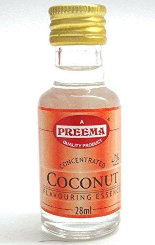 Kokos-Essenz - Natürliches Kokos-Aroma/Extrakt zum Kochen & Backen - 6 Flaschen