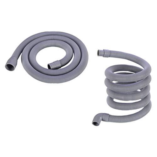 OSALADI 1 Juego de Manguera de Drenaje para Lavadora Flexible Extensión de Tubo de Drenaje para Lavavajillas Arandela Corrugada Sustitución de Manguera de Descarga para Lavadora 2 Metros