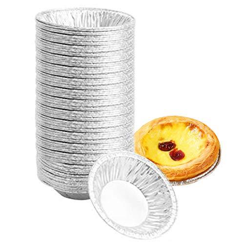 N/0 Moldes para Tartas de Huevo, 300PCS Molde de Aluminio Desechable para Tartas, Tazas de Huevo para Hornear Tarta Mollete, Cocina Herramienta de Hornear - DIY Tarta de Huevo Molde