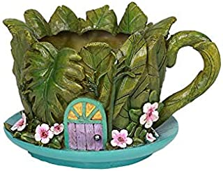 Pacific Giftware PTC Fairy Garden Land Floral Planter