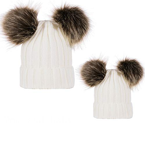 Pack de 2 Sombreros de Punto para Padres e Hijos,STRIR Gorro Beanie...