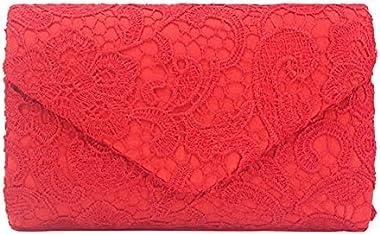 Tskybag Damen Elegant Floral Spitze Clutch Bag Umschlag Hochzeit Abend Abend Handtaschen Brautbörse