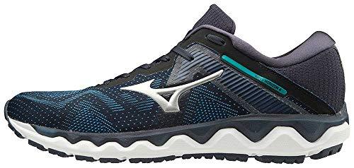 Mizuno Men's Horizon 4 Running Shoe, Navy Blazer - Silver, 10.5