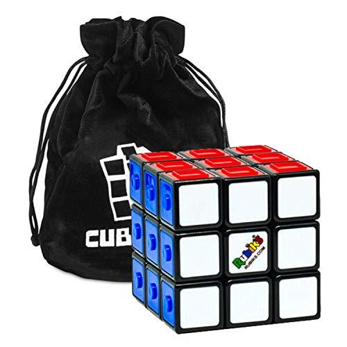 Rubik's Cube Touch – Der Original 3x3 Zauberwürfel zum Blindlösen – Für Blinde geeignetes Geduldspiel mit Aufbewahrungsbeutel