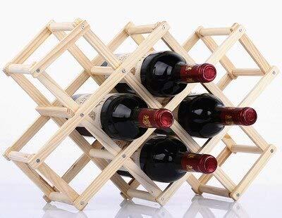 Estantes Plegables de Madera para Botellas de Vino, gabinete, Soportes de exhibición Decorativos, estantes de Madera para Vino, organizadores de Botellas de Vino Tinto, 10 Botellas, Original