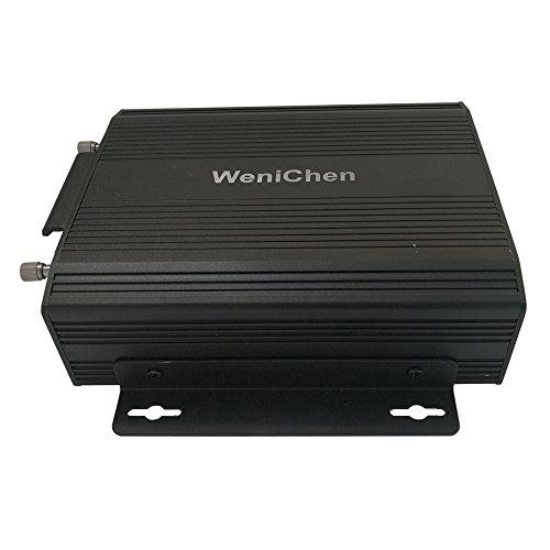 Wen&Cheng Enregistreur vidéo de voiture 4 canaux avec télécommande pour carte SD/HDD