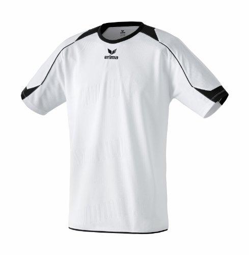 erima Santiago - Camiseta de fútbol de Manga Corta para niño Blanco Blanco/Negro Talla:128