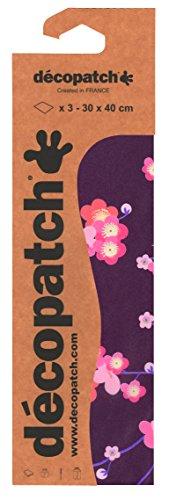 Decopatch papier nr. 707 (zwart rood kersenbloesem, 395 x 298 mm) 3-pack