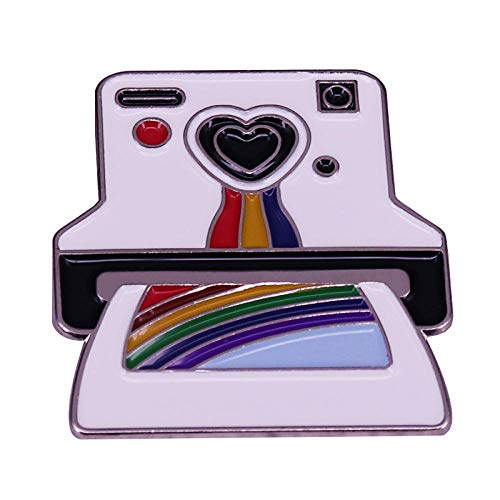 Broche Polaroid Cámara Retro Años 90 Fotógrafo Amigos Orgullo Decoración Aproximadamente 30...