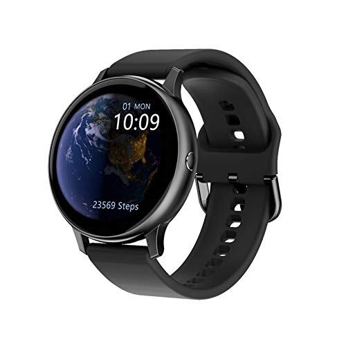 GZA Intelligente Uhr HD-Bildschirm Sauerstoff-EKG-Herzfrequenz-Monitor-Armband Music Control Multi-Sport-Modi Smart Watch (Color : Black Silicone)