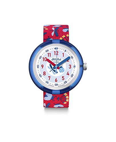 Flik Flak Unisex Analog Schweizer Quarz Uhr mit Textil Armband FPNP059