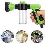 Hochdruckschaum-Waschdüsen, Gartenschlauch-Düsen-Wassersprühgerät 8 Muster Bewässerung für die Autowaschanlage Rasenbodenreinigung Haustier