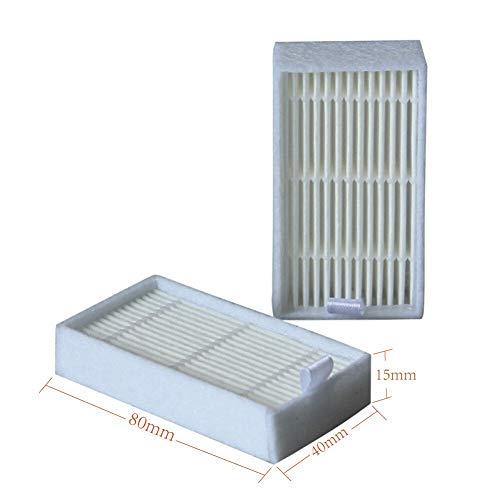 SANKUAI LT-Home, Filtro de Polvo primario Cepillo Lateral Eficiente Filtro HEPA for ILIFE V5 V5S V3 V3S V5PRO V50 V55 x5 V5S Piezas de aspiradora de Robot (Color : 51Pcs)