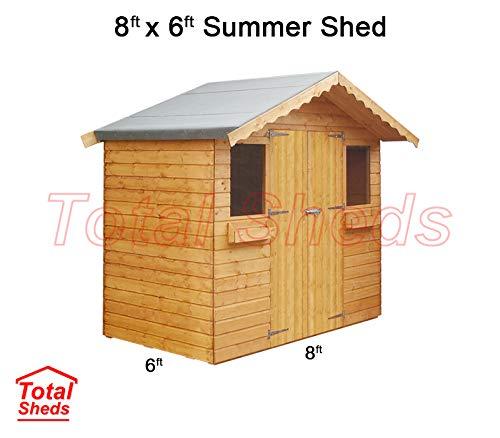 Total Sheds 8ft (2.4m) x 6ft (1.8m) Garden Shed Summer Shed Timber Shed