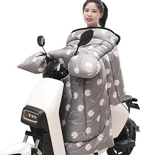 Motocicleta Térmica Manta Rodilla Plazo Delantal Cubierta de Motocicleta Estado de Parabrisas Edredón Scooter Pierna Cubierta de Pierna Invierno Espesado A Prueba de Viento Cálido (Color : J)