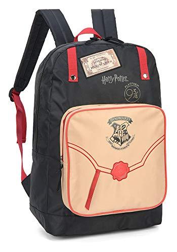 Mochila escolar feminina Harry Potter Marauders map luxcel 45837 vinho
