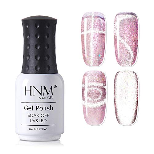 HNM Smalto Semipermente per Unghie in Gel UV LED, Occhio di Gatto Magnetica Gel, Cat Eye Effetto Smalti in gel per unghie Manicure e Pedicure Soak Off 44005