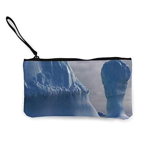 Pinnacle Iceberg Geldbörse aus Segeltuch, für Reisen, Make-up, Bargeld, Stifteetui