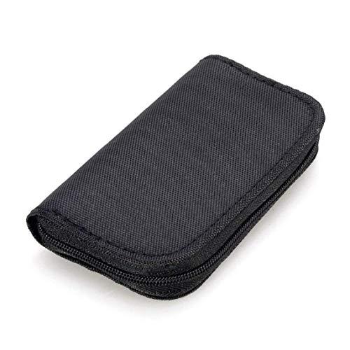 Uayasily 22 Slots Speicherkarten-Tasche wasserdichte Kartenhalter Tragetasche Für Micro Sdhc Sdxc-SIM-Karte-schwarz