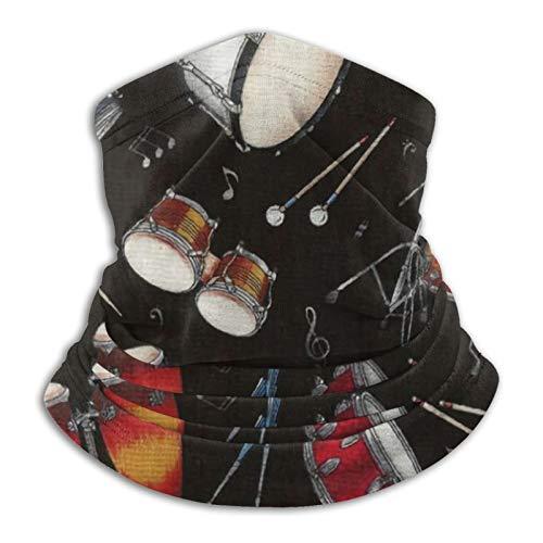 YBEAYQYXR Rock Drum Stand Unisex Microfibra calentador de cuello protector solar resistente al viento Pasamontañas diadema bufanda para exteriores