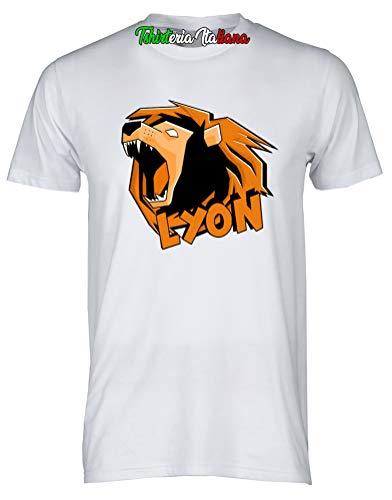 T-Shirt Maglietta Team Lyon - When Gamer's Fail - Lyon Youtuber Italia Team WGF (5-6 Anni)