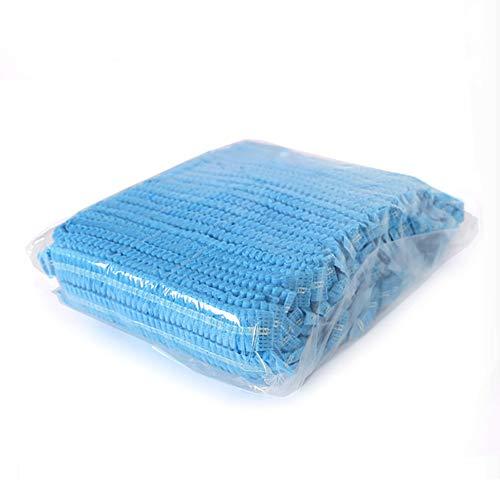 100 unidades de fundas de cabeza desechables transpirables a prueba de polvo para la industria alimentaria del hospital, azul, 100