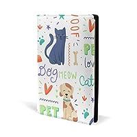 ブックカバー a5 猫 犬 ペット かわいい 文庫 PUレザー ファイル オフィス用品 読書 文庫判 資料 日記 収納入れ 高級感 耐久性 雑貨 プレゼント 機能性 耐久性 軽量