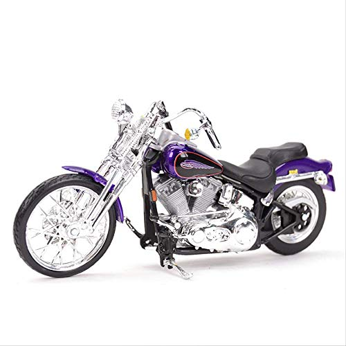 Logo 1:18 2001 Fxsts Springer Softail Diecast Alloy Motorcycle Model Toy