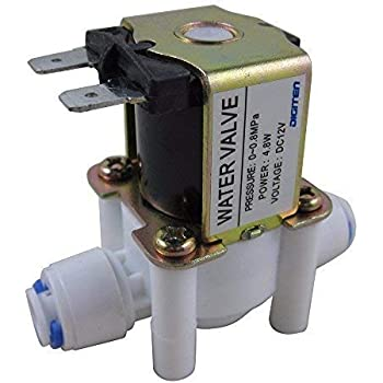 Digiten Dc 12v 1 4 Inlet Feed Water Solenoid Valve Quick Connect N C Normally Closed No Water Pressure Amazon Com Industrial Scientific
